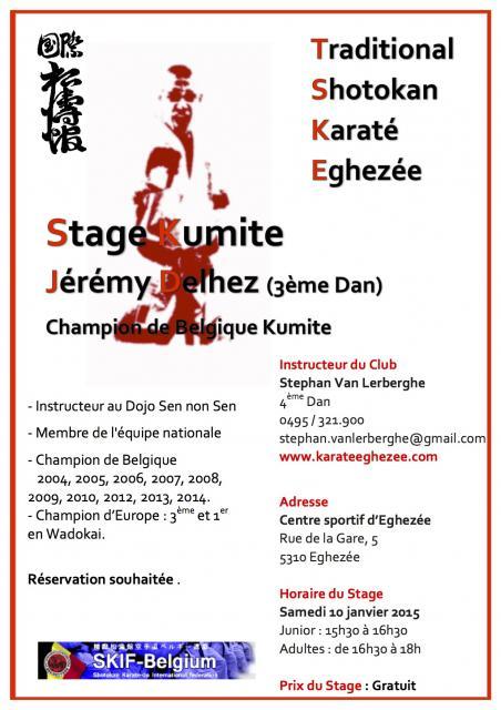 Affiche de stage jeremy delhez 10 janvier 2016