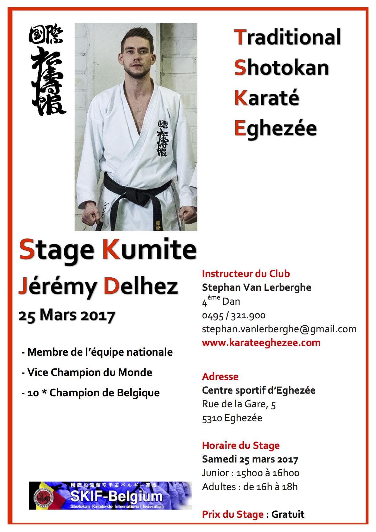 Affiche de stage jeremy delhez 23 mars 2017